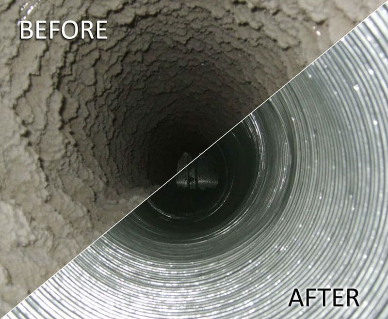 round HVAC Duct Cleaning Service